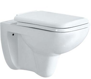 Унитаз подвесной, сиденье и крышка, металлические петли, монтажный набор, размер: 360*535*380