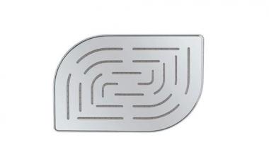 Верхний душ Alive Maze из нержавеющей стали, с одним режимом, размер 200х300 мм