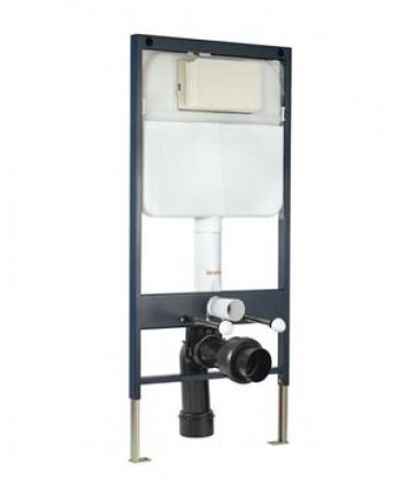 Инсталляция для унитаза (напольный монтаж), с монтажным комплектом и набором для подсоединения к трубе для подвесного унитаза (без панели управления)