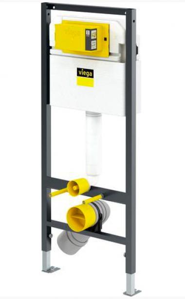 Инсталляция Prevista Dry для подвесного унитаза 112 см Viega (без панели смыва в комплекте)