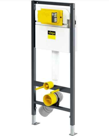 Инсталляция Prevista Dry для подвесного унитаза 112 см в комплекте с кнопокй и крепежом Viega 771973 + 678630 + 773717