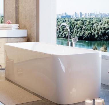 Отдельностоящая ванна с переливом и сливом Jaquar Alaska Размер: 1712 x 760 x 440/580 mm