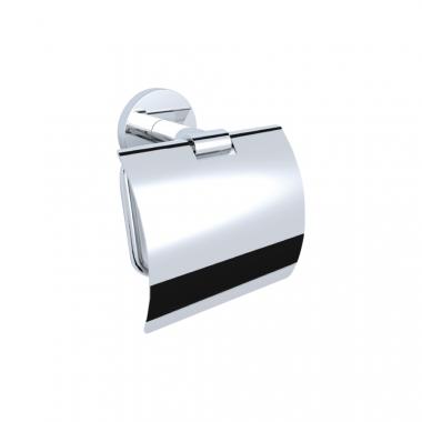 Держатель для туалетной бумаги с крышкой, настенный монтаж, хромированный металл