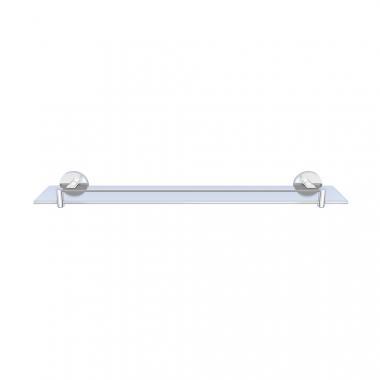 Стеклянная полка для ванной комнаты, длина 600 мм