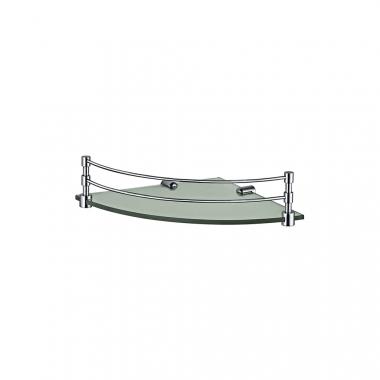Угловая стеклянная полка для ванной комнаты