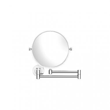 Зеркало для ванной, выдвижное, поворотное, двусторонее с 3х кратным увеличительным зеркалом с одной стороны