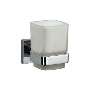Настенный стакан для зубных щеток с держателем, латунь и стекло
