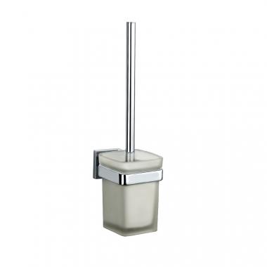 Настенный туалетный ершик, латунь и стекло