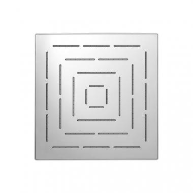 Верхний душ Maze из нержавеющей стали, с одним режимом, размер 200х200 мм