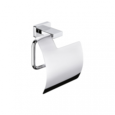 Держатель для туалетной бумаги с крышкой, материал латунь, цвет хром, Artize.